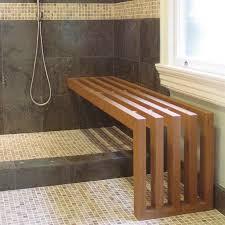 Bathroom Bench With Storage by Cedar Shower Bench Militariart Com