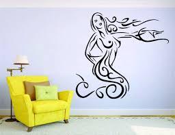 online get cheap car and woman wall sticker aliexpress com mermaid wall mural vinyl decal sticker decor car woman girl swim china