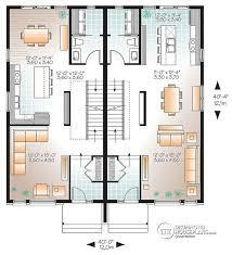 Duplex Townhouse Plans Half Duplex House Plans Homes Zone