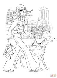 teenager fashion coloring page free printable coloring pages