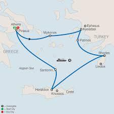 Aegean Sea Map Greece Cruises Greece Tour Packages Globus
