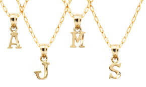 necklace initial pendants images Limited time only 10k gold initial pendants groupon jpg