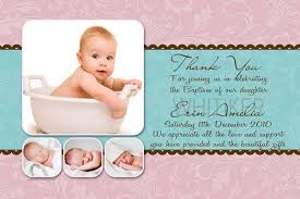 thank you photo cards for baby birth baptism birthday with