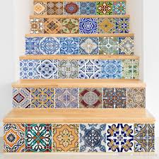 home decor 3d stickers creative diy 3d stairway stickers ceramic tile pattern for room