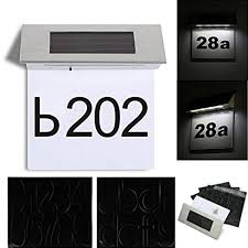 house number light box waterproof stainless steel solar powered home door number light
