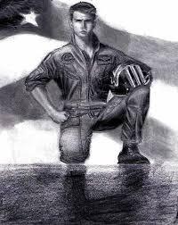 tom cruise top gun drawing by katie alfonsi