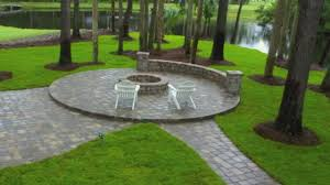 Patio Construction Ideas by Stone Patio With Fire Pit Nyfarms Info