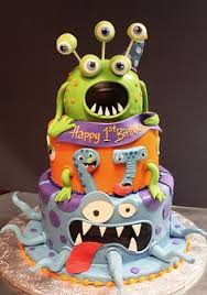 Halloween Decorated Cakes - try these great mini monster cakes with your kids and watch