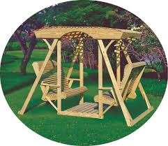 Lawn Swing Rollback Double Lawn Swing Custom Barns And Buildings The