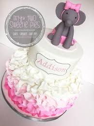 Pink And Grey Elephant Baby Shower