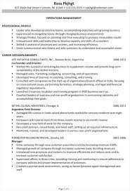 Ministry Resume Templates Resume Exle For Operations Management Susan Resumes