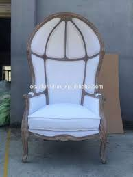 unique cassic sale linen fabric wooden egg chairs for wedding