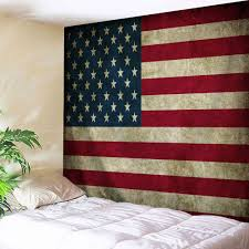 Tapestry On Bedroom Wall Wall Hanging Distressed American Flag Tapestry Colormix W Inch L