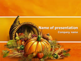 thanksgiving day free presentation template for powerpoint and