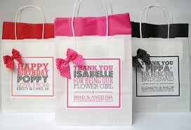 personalized wedding gift bags dot bow personalised wedding gift bag with tissue