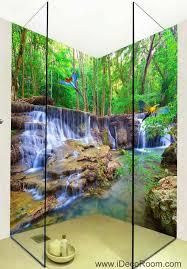 3d Wallpaper Home Decor by 3d Wallpaper Forest Fall Stream Wall Murals Bathroom Decals Wall