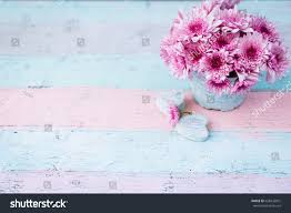 beautiful shabby chic flowers pot mothers stock photo 628432901