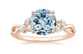 aquamarine wedding rings aquamarine and gold engagement rings brilliant earth