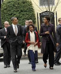 barack obama and sasha obama photos photos the obamas attend
