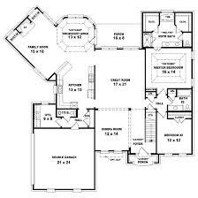 4 bedroom house plans one floor plan designs farmhouse kerala ranch sunroom covered bonus