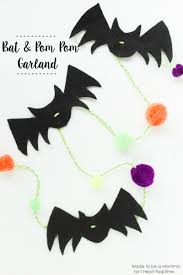 bat u0026 pom pom garland i heart nap time