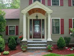 Awning Cost Articles With Front Porch Awning Cost Tag Gorgeous Overhang Over