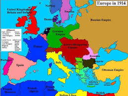 World War One Ottoman Empire Map Of Europe In 1914 Before The Great War World War I