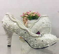 wedding shoes high lace white ivory wedding shoes bridal flats low high heel