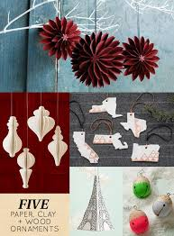 5 wood paper clay ornaments design sponge
