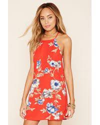 forever 21 floral cami dress in blue lyst