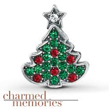 kay jewelers charms kay charmed memories christmas tree charm sterling silver