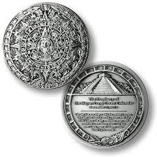 2012 mayan prophecy coin silver antique