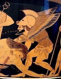 Euphronios Vase Ipernity Detail Of Sarpedon And Thanatos On The Front Of The