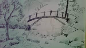 natural sceneries pencil drawings simple pencil drawings nature