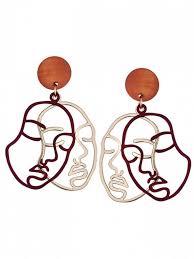 human earrings outline human drop earrings earrings zaful