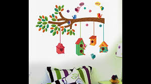 wall stickers home decor decorate your room with wall stickers easy home decor youtube