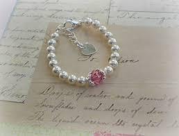 birthstone bracelet for baby birthstone bracelet new baby gift newborn jewelry baby