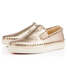 Flat Tennis Shoes Pik Boat Women U0027s Flat Light Gold Colombe Lame Sirene Women Shoes