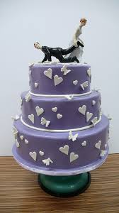 wedding cakes with purple flowers tags butterflies funny cake