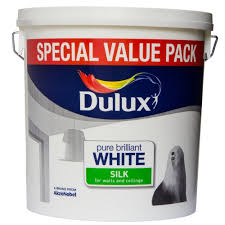 dulux silk smooth and creamy emulsion paint for use on walls