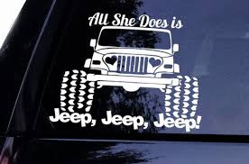 jeep decals heart headlights jeep decal all she does is jeep jeep jeep window