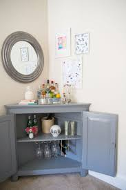 Small Corner Bar Cabinet Dining Room Cabinet With Glass Doors Living Room Mini Bar