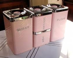 antique kitchen canister sets pretty in pink 4 vintage kitchen canisters set by lincoln