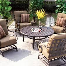 Aluminum Patio Chairs Clearance Darlee Malibu 5 Piece Cast Aluminum Patio Conversation Seating Set