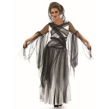 ladies ghost halloween spirit corpse bride haunting fancy dress
