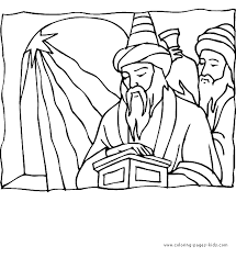 wise men color religious christmas color coloring