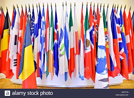 Flags Of Nations Images The United Nations Organization Members Flags On Poles Stock Photo