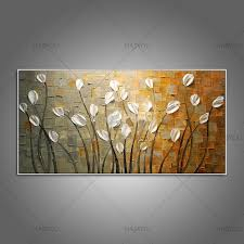 pure home decor pure hand painted modern home decor wall art picture white flower