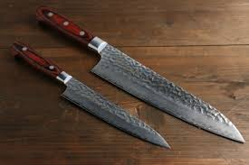sharpest kitchen knives in the sakai takayuki 33 layer gyuto and petty japanese kitchen chef knives