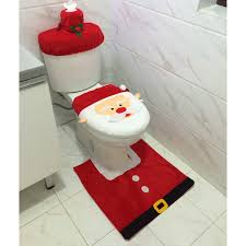 Santa Claus Rugs Amazon Com Santa Toilet Seat Cover And Rug Set Christmas Bathroom